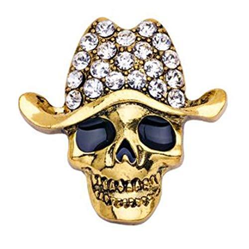 YAZILIND Unisex Halloween Metal Esqueleto Calavera Broch alfiler de Solapa Pin Accesorio de Ramillete para decoración de Fiesta temática Regalo Fiesta de Noche # 6