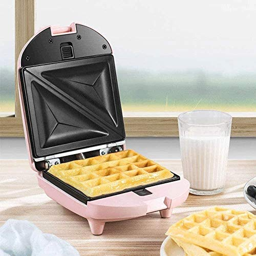 Read About Waffle Makers Irons Mini Waffle Maker,with 3 Different Types Of Baking Molds, Portable Ne...
