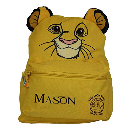 The Lion King Simba Officially Licensed Backpack- Plain/Personalised Present Kid Quality Product Stitching Padded Shoulder Straps Tension Resistant 100% Polyester (Personalised)