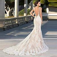 ホームアクセサリースタイリッシュなシンプルなドレスマーメイドスタイリッシュなシンプルなドレス恋人の襟バックレースの花嫁のドレスホワイトアイボリーカスタムスタイリッシュなシンプルなドレススタイリッシュなシンプルさ