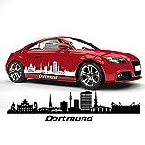 Dortmund Skyline Aufkleber Silhouette Autoaufkleber Sticker Folienplot Stadt Deutschland |SKD024