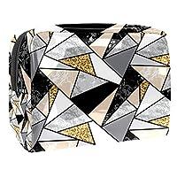 女性用コスメティックバッグ ジオメトリ ゆったりとした化粧ポーチトラベルトイレタリーバッグアクセサリーオーガナイザー