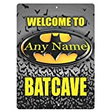 INNAPER Welcome to The Batcave Personalized Customized Decorative Tinplate Sign 8x12 Inch