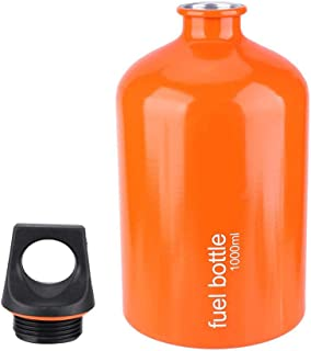 VGEBY Fuel Bottle, 1000ML Aluminium Alloy Gas Stove Fuel Storage Container Oil Petrol Can Fuel Tank for Outdoor Camping Hiking