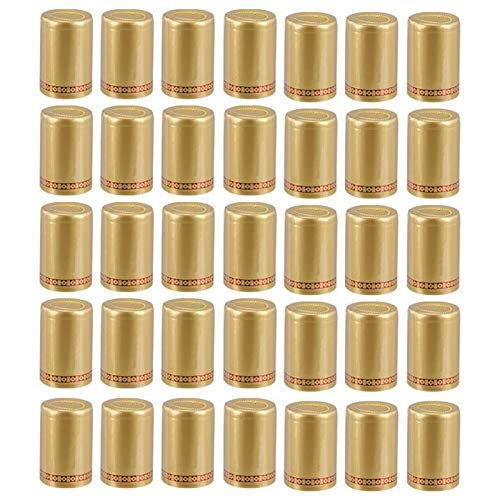 KGMIXL Duradero 100 unids 33mm Tinto Vino Sellado Cubierta Botella Tapa de la Botella de la Tapa para Botellas (Color : Golden)