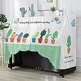 Cubierta de Piano Cubierta Superior Vertical Cubierta de Silla Juego de Cubierta a Prueba de Polvo Cubierta Simple de Lujo Elegante y Brillante Cubierta Completa de Piano con Volantes