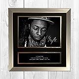 Lil Wayne 1 NDB Signed Reproduction Autographed Wall Art -