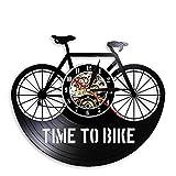 Tiempo para Ciclistas, Cita de inspiración, decoración del hogar, Bicicleta de montaña, Reloj de Pared, Antiguo, Bicicleta, Ciclista, Reloj de Pared de Vinilo Retro