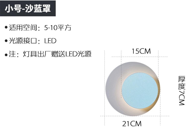 StiefelU LED Wandleuchte nach oben und unten Wandleuchten Schlafzimmer Bett wand Lampen der Straenbeleuchtung runden Flur Wand blau