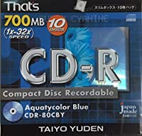That's 太陽誘電製 CDR-80CBY 700MB 1x32倍速 10枚入り
