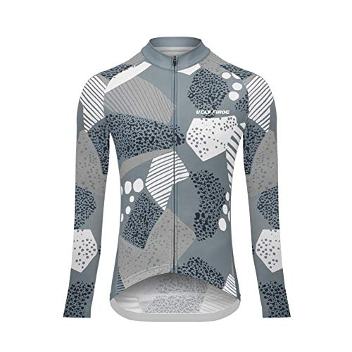 Sports Wear UGLYFROG Maillot Ciclismo Mujer Raya Designs Maillots de Bicicleta Cycling Jersey Manga Larga Top MTB Manga Corta Cómodo Transpirable