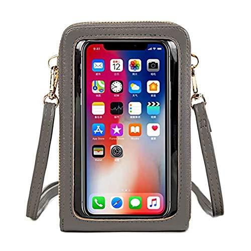 WLHGH - Bolso bandolera para teléfono móvil con compartimento para tarjetas de crédito, para teléfono móvil de menos de 6,5 pulgadas
