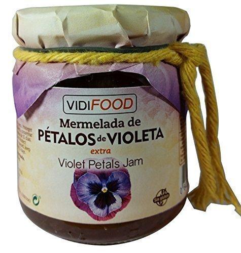 Mermelada Extra Artesanal de Pétalos de Violeta - 210 g - Procedente de España - Casera, de Alta Calidad & 100% Natural - Amplia Variedad de Deliciosos Sabores