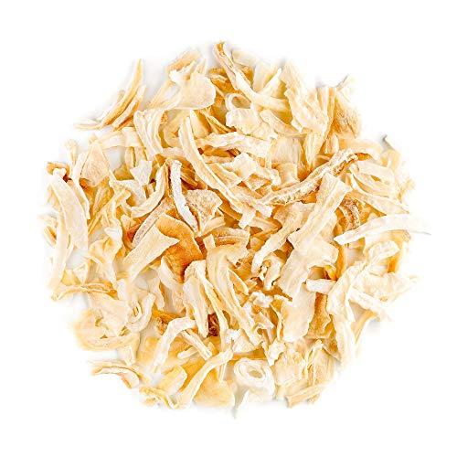 Gefriergetrocknete Zwiebeln aus biologischem Anbau - gewürfelte weiße Zwiebeln - fein gehackte Qualitätsflocken 100g