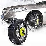 Chaînes à neige pour pneus 8 PCS voiture neige pneus anti-patinage Chaînes Chaînes à neige d'hiver voiture Pneu Roue Porte anti-dérapant Ceinture épaissie anti-dérapant chaîne Porte noire avec deux pl