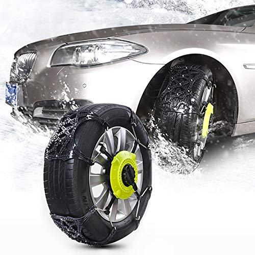 Cadenas de Nieve para neumáticos 8 Cadenas Coche del PCS del neumático de Nieve Antideslizantes del Coche del Invierno del neumático de Nieve Cadenas de Ruedas Cadenas Antideslizante Correa de Cadena