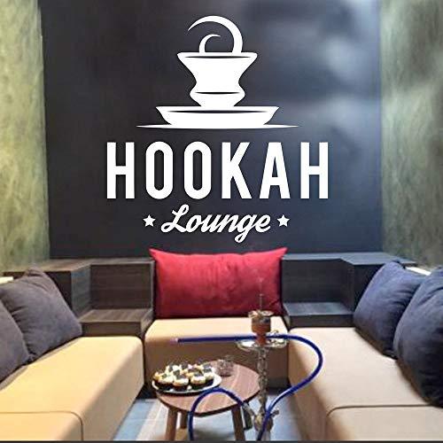 ASFGA Shisha Lounge Wandaufkleber Kunst Wandaufkleber Vinyl Aufkleber Shisha Club Home Dekoration Shisha Bar Muster abnehmbares Wohnzimmer Tee Restaurant Kaffee 60x60cm