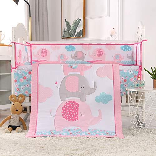 Wowelife Butterfly Nursery Bedding Purple Upgraded 7 Piece Baby Girl Crib Bedding Set(Purple Butterfly)