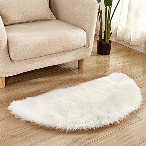 Chezaa SOFE - Tappeti in finta pelliccia di pecora, antiscivolo, per camera da letto, decorazione per la casa (A)