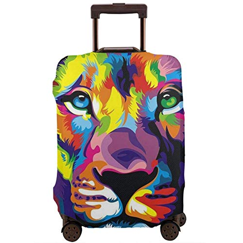 Funda de equipaje de viaje con estampado de león abstracto, funda elástica para maleta, protector de equipaje para maleta de 45 a 81 cm