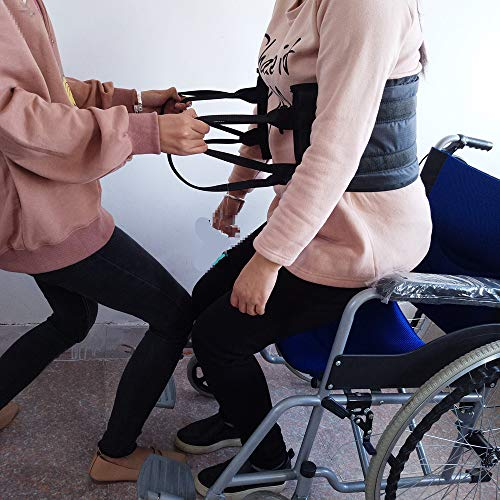 Transfer Sling – Moving Assist Hoist Gait Belt Harness Device with Heavy Duty 400lb Weight Capacity, Padded Handles, Extended Length & Width - 8 x 47â€, Slip-Proof Lining