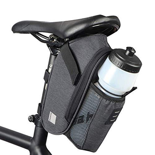 HOMPER Satteltasche Fahrradtasche Radtasche Fahrrad Tasche Mountainbike Bag mit Rücklichthalter und Flaschenhalter für Mountainbikes Rennräder