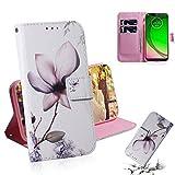 Accessoires Motorola Étui à rabat horizontal en cuir à motif coloré avec motif de fleurs de...