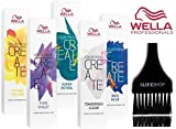 Wella COLOR FRESH CREATE Semi Permanent Shades Hair Color (with Sleek Tint Brush) (Uber Gold)