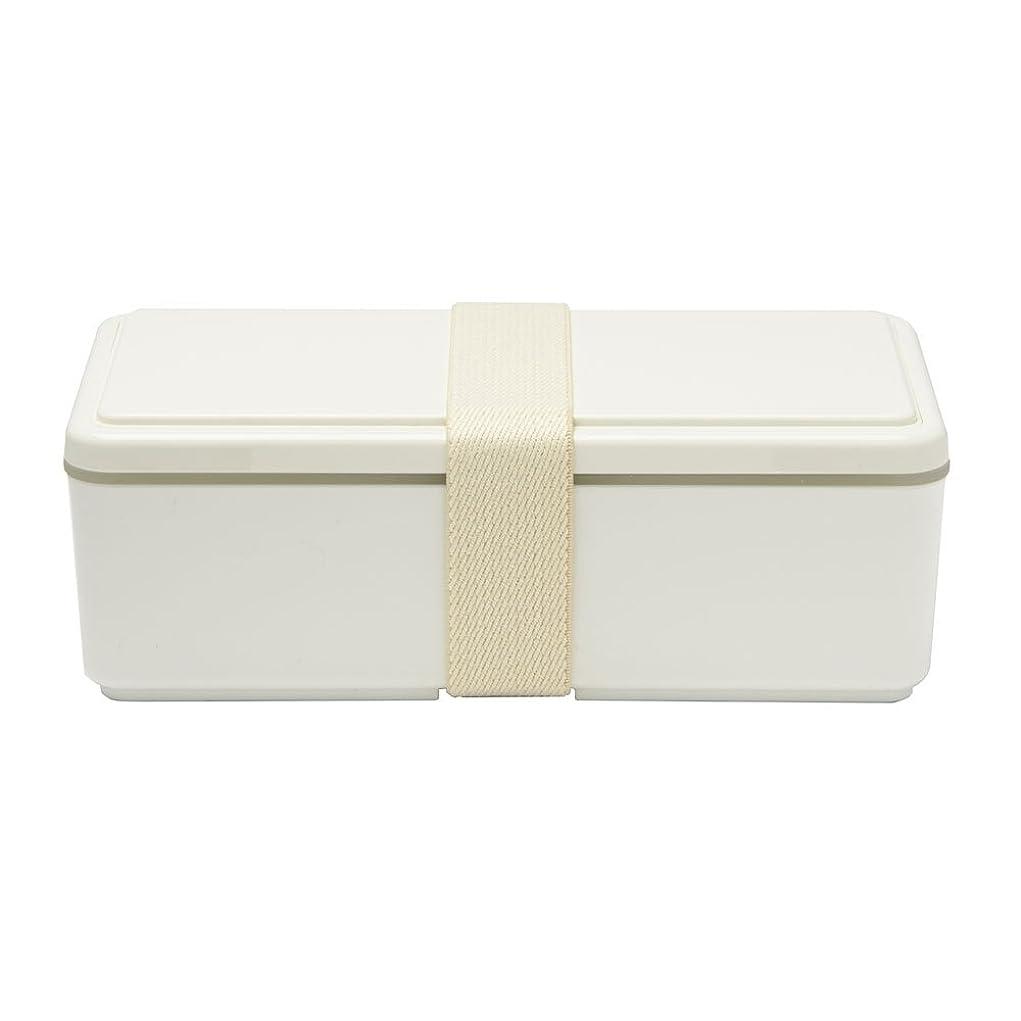 しつけ世紀触覚GEL-COOL ランチボックス 保冷剤一体型 スクエア SG ミルクホワイト 0101-0033