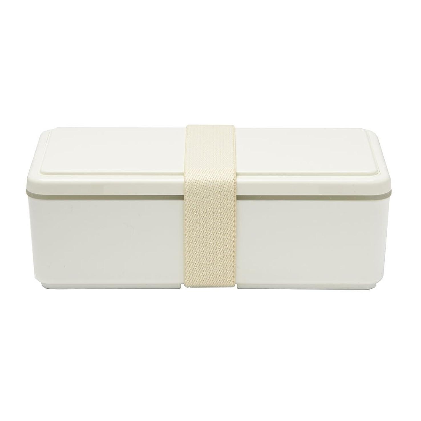 銛ドアミラーズームインするGEL-COOL ランチボックス 保冷剤一体型 スクエア SG ミルクホワイト 0101-0033