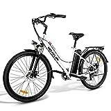 VARUN E-Bike Damen Herren 26 Zoll Elektrofahrräder Shimano 7 Gänge Pedelec Citybike mit 250W Motor 36V 10.4AH Lithium-Ionen-Akku E-Fahrrad für Erwachsene