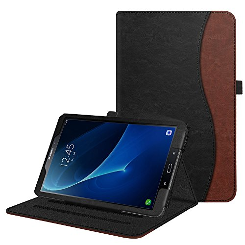 Fintie Hülle für Samsung Galaxy Tab A 10,1 Zoll T580N / T585N 2016 Tablet - Multi-Winkel Betrachtung Schutzhülle Cover Case mit Dokumentschlitze, Standfunktion, Auto Wake/Sleep Funktion, doppelfarbig