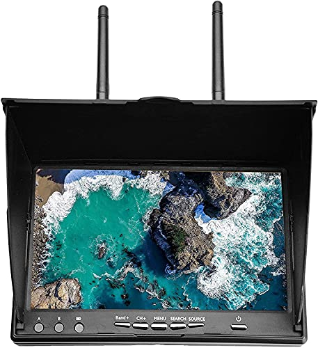 DAUERHAFT Monitor FPV Monitor de Receptor FPV de Pantalla LCD de 40 Canales para Uso en Exteriores para FPV Drone