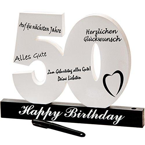 18. 30. 40. 50. Geburtstag individuelles Gästebuch Geburtstagszahl zum Beschriften, alle Gäste...