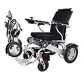 Wheelchair Silla de ruedas, silla de rehabilitación médica para personas mayores, personas mayores, silla de ruedas eléctrica plegable Silla de ruedas eléctrica compacta con ayuda de movilidad, silla
