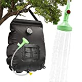 DASIAUTOEM Campingdusche Solardusche, 20L Solar Duschtasch Solar Heizung Tasche, Tragbar Outdoor Warmwasser Duschsack mit Ausschaltbarem Duschkopf und Abnehmbarem Schlauch zum Freien Wandern
