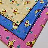 6pcs Print Polycotton Winnie The Pooh Kids Craft (50x50cm) Fat Quarters
