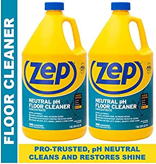 ZEP Neutral pH Floor Cleaner Concentrate 128 Ounces (2 Pack) ZUNEUT128 - Pro Trusted for daily floor cleaning with no residue