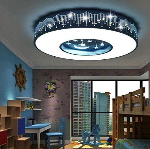 GFFORT Kinderzimmerlampe LED-Deckenleuchte für Jungen und Mädchen und Begrüßungsräume Licht Energie Licht Star Moon Auge Pflege Kinderlampen (400mm * 90mm), weißes Licht , A