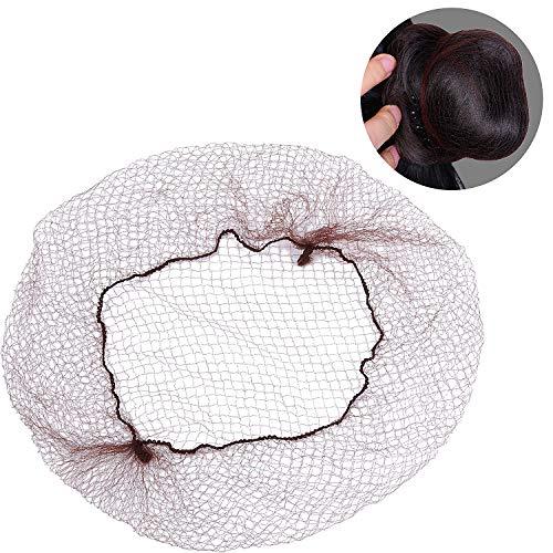 200 Packung Haarnetze Invisible Elastisches Randnetz, Leicht, Regelmäßig 20 Zoll Größe mit 1/4 Zoll Öffnung, Braun Nylon Unsichtbares Haarnetz