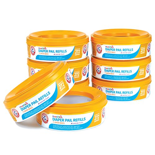 Munchkin Arm and Hammer Diaper Pail Refill Rings (8 refills of 272 Count each), 2,176 Count