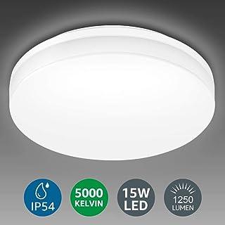 چراغ سقفی لامپ ، لامپ روشنایی کوه فلاش LED 8.7 اینچ ، 15W (100W معادل) ، 1250 لومن بدون نور ، برای حمام ، اتاق نشیمن ، اتاق خواب ، آشپزخانه و موارد دیگر ، نور روز
