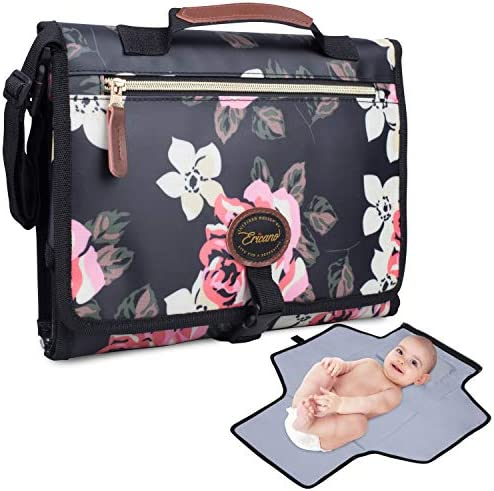 Portable Baby Diaper Changing Pad Built In Thick Cushion Pillow Foldable Clutch Bag Travel Changing product image