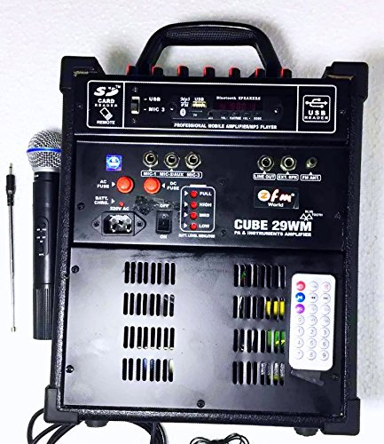 Medha D.J. Plus Professional Cube-28 Wireless Portable Public Address System With FM USB & Remote