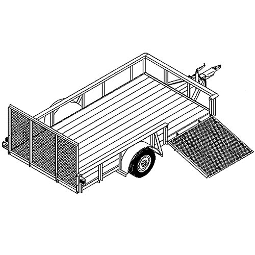 "1112 Trailer Plan - 6'6""x12' Single Axle 3.5K or 5.2K Utility Trailer DIY How-To Blueprint"