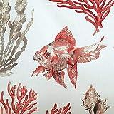 Werthers Stoffe Stoff Meterware Baumwolle Koralle Fisch
