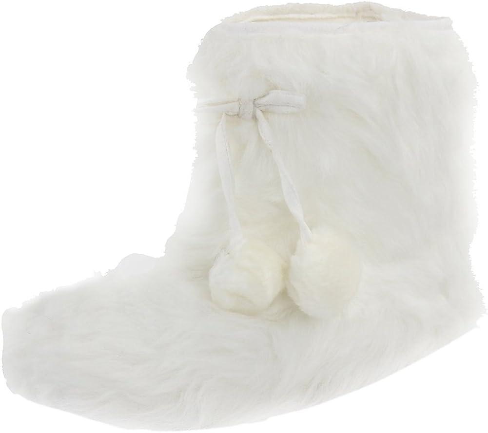 Gohom Women Warm Indoor Slipper Boots Women's Winter Anti-Slip Ankle Booties Slip On Fur Lined House Shoe