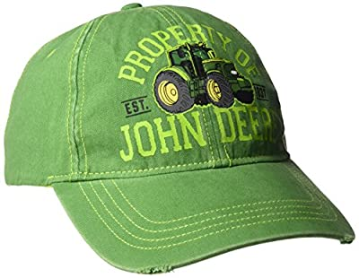 John Deere Boys' Big Baseball Cap, Green, Youth