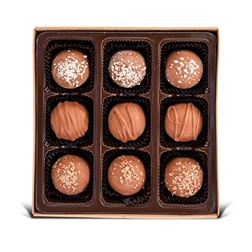 Vegan Chocolate Truffles - Gluten free, Organic Ingredients, Best Vegan Gift, Fair trade, Gourmet Assortment 6.25oz Box