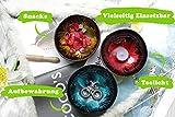 Batriozo Einzigartige Kokosnussschale – Gold – Hochwertige Dekoschale – 100% Handgemacht und Umweltfreundlich – Vielseitig Einsetzbar – Coconut Bowl - 6